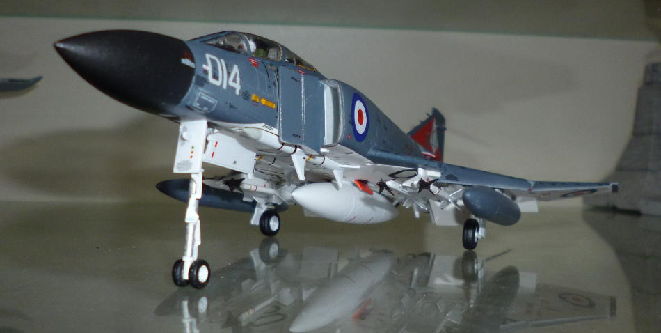 Front view of finished model
