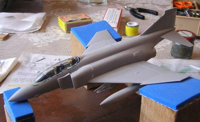 Picture of assembled but unpainted model